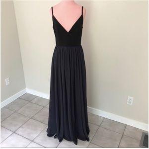 Anthropologie BHLDN Black Bodice Steel Tulle Gown